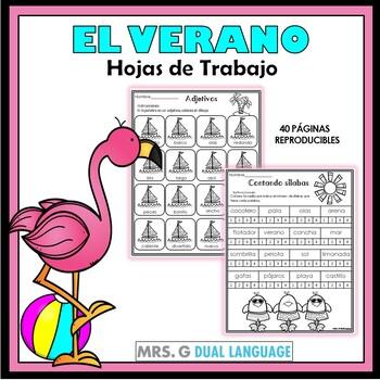 Verano: Hojas de trabajo. Summer Literacy  Practice Packet