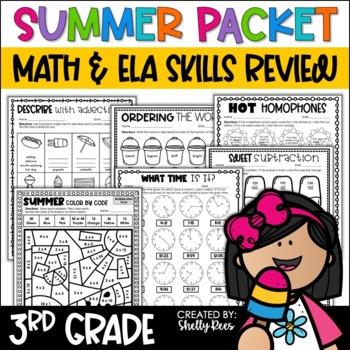 Summer Packet Summer Math and Reading Third Grade