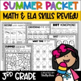 Summer Packet for Third Going to Fourth Grade | Summer Math