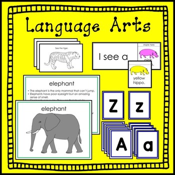 Zoo Animal Math and Literacy Summer Packet