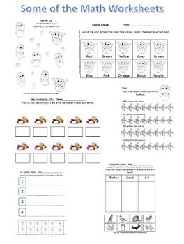 Summer Packet and Worksheets for Preschoolers and Kindergartners with Minions