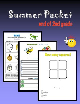 Summer Packet:  end of 2nd grade
