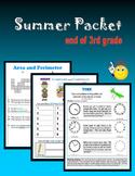 Summer Packet:  end of 3rd grade