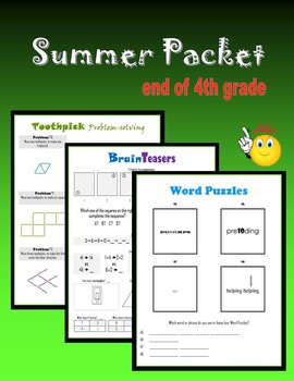 Summer Packet:  end of 4th grade