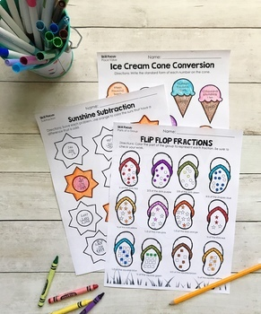 Summer Packet for 3rd Grade: End of Year Skill Review & Practice