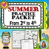 End of the Year Summer Packet for  3rd Grade to 4th Grade
