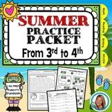 3rd Grade Summer Packet for  3rd Grade to 4th Grade