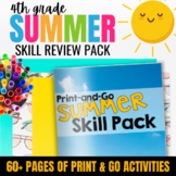 Summer Packet for 4th Grade: End of Year Skill Review & Practice