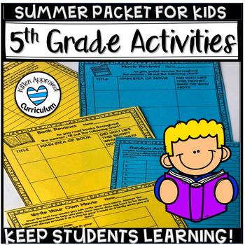 Summer Packet for 5th Grade Worksheets