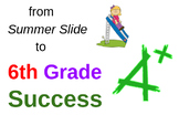 Summer Packet Math for 5th grade to 6th grade transition, home or summer school