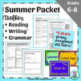 Summer Packet featuring Back to School Bulletin Board for Summer Reading