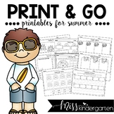 Summer Packet {print and go printables for summer}