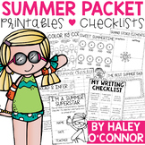 Summer Packet for 1st Graders {Worksheets, Checklists, Act