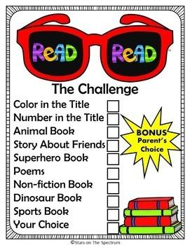 Summer Activities Reading Challenge