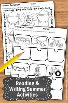 Summer School Packet Summer School Reading Activities Writing Activities Kids