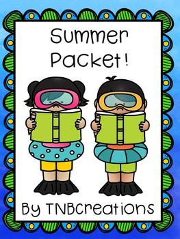 Summer Activities Packet
