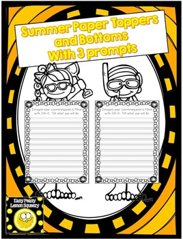 Summer Page Toppers and Bottom with 3 Writing Prompts