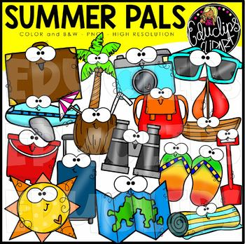 Summer Pals Clip Art Set {Educlips Clipart}