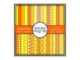 12x12 Digital Paper Set: Summer Collection {A Hughes Design}