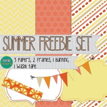 Summer Paper and Frame Freebie Set