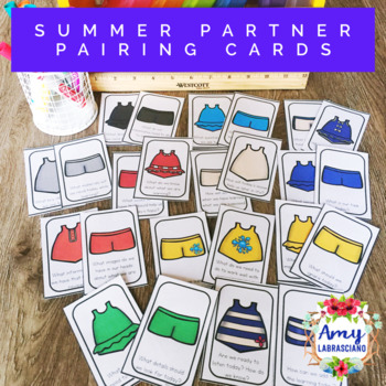 Summer Partner Pairing Cards with Engagement Questions