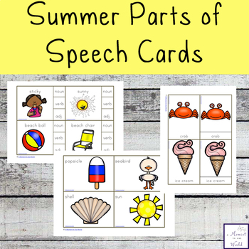 Summer Parts of Speech Cards