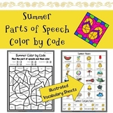 Summer Parts of Speech Color by Code