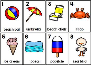 Summer Parts of Speech Silly Sentences