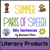 Summer Parts of Speech Silly Sentences