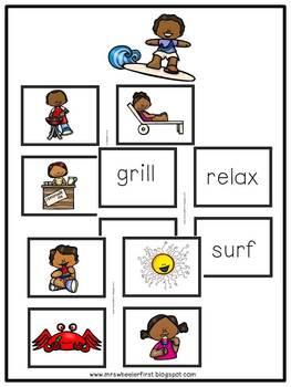 First Grade Language: Summer Parts of Speech Sort
