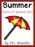 Summer Parts of Speech Sort