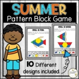Summer Pattern Block Mats - Summer Math Game - Shapes Center