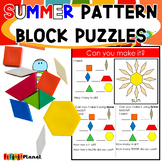 Summer Pattern Block Mats Puzzles