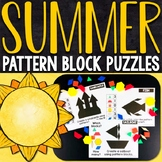 Summer Pattern Block Puzzles | Summer Pattern Block Challenge Cards