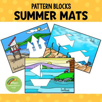 Summer Pattern Blocks Puzzle Mats