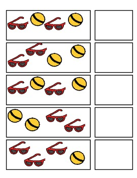 Summer Pattern Strips:  A-B patterns (ESE or Gen. Ed)