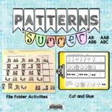 Summer Patterns   File Folder Activities   Worksheets