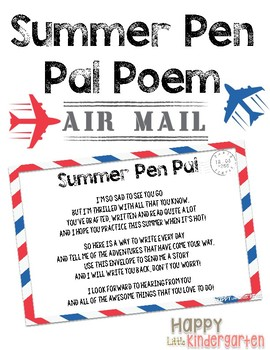 Summer Pen Pal Poem