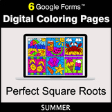 Summer: Perfect Square Roots - Google Forms | Digital Colo