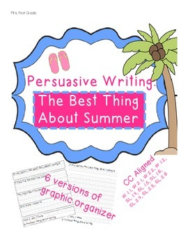 Summer Persuasive Writing