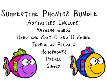 End of the Year Summer Phonics Bundle