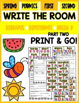 Summer Phonics Write the Room