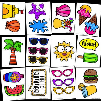 Summer Photo Booth Props {Made by Creative Clips Clipart}