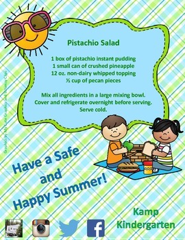Summer Picnic 2015 Recipe FREEBIE