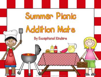 Summer Picnic Addition Mats - Decomposing Numbers