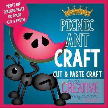 Summer Picnic Ant Craft