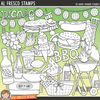 """Summer Picnic & BBQ Clip Art: """"Al Fresco"""""""