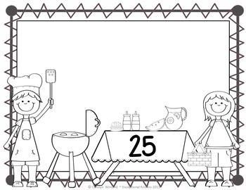 Summer Picnic Counting Mats