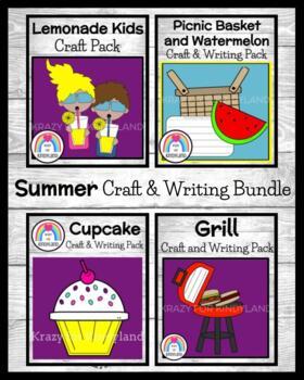 Summer Picnic Craft & Writing: Cupcake,Basket and Watermelon,Grill,Lemonade Kids