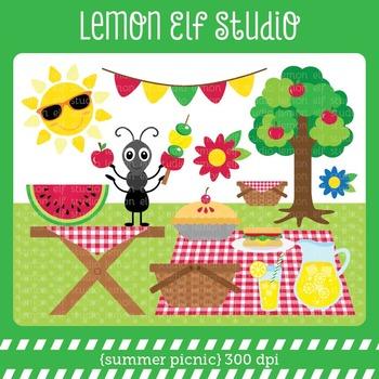 Summer Picnic-Digital Clipart (LES.CL38)